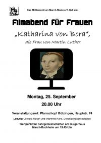 Flyer Filmabend Luther